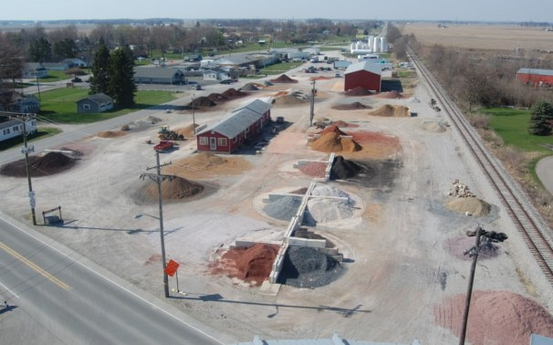 aerial view of Leffert Stone in Walton Indiana, between Kokomo and Logansport